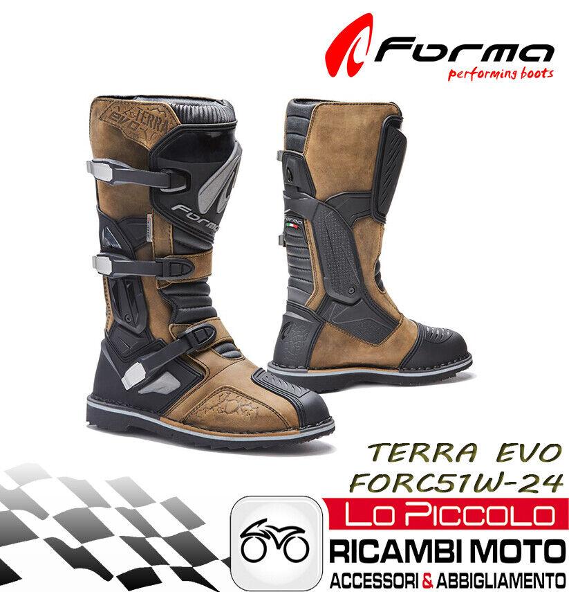 Forma Evo Terra Boot High Brown Motorcycle Off Road Atv Quad Measure 48