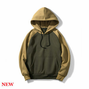 Casual-Pullover-Hooded-Hoodie-Sweatshirt-Mens-Coat-Sports-Long-Sleeve-Tops