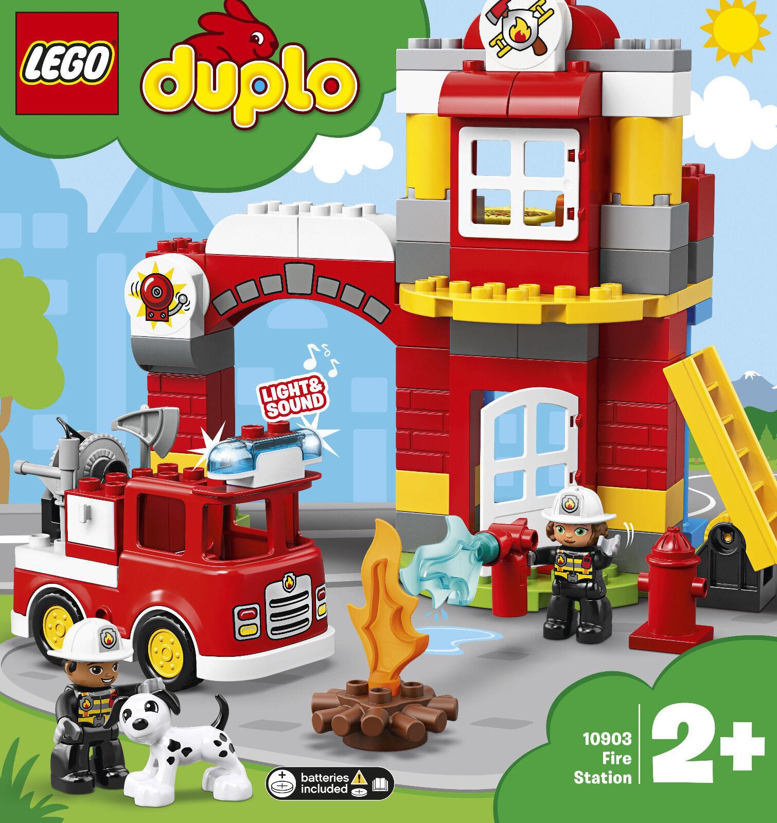 Lego  Duplo 10903 - Caserne de Pompiers, Neuf  Embal. Origine  de gros