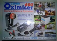 OXFORD OXIMISER 600 MOTORCYCLE BATTERY TRICKLE CHARGER 12V NEW