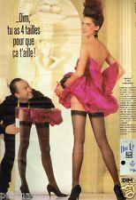 Publicité advertising 1987 Les Bas et Collants Dim Up