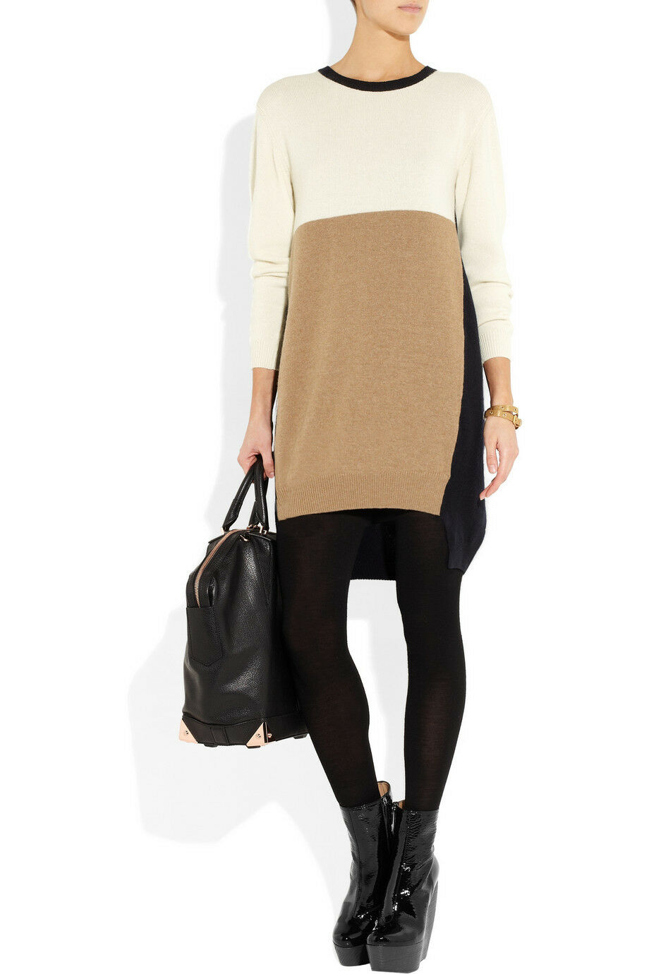 Vionnet Farbe-block wool-blend sweater dress M