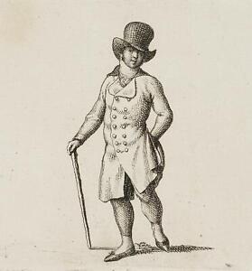 Chodowiecki (1726-1801). vestiti costumi; pressione grafico 1