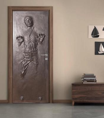 Han Solo Carbonite Door Wrap Decal Wall Sticker Mural Home Decor Star Wars D187 Ebay