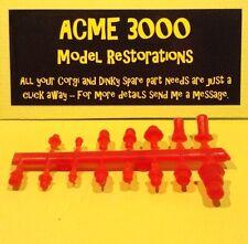 CORGI DINKY Set di 15 RIPRODUZIONE REPRO in plastica tetto luce Beacon-Opaco Rosso