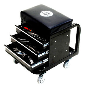 New Mechanics Work Stool Garage Seat Black Creeper Shop