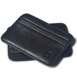 Herren-accessoires Brand New Mens Ladies Black Leather Credit Card Note Holder Wallet Purse