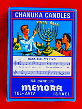 Vintage Style . . 44 CHANUKAH CANDLES - - Hannukah Menorah Jewish color Judaica