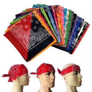 50cm-Foulard-Carre-Motif-Floral-Bandana-Echarpe-Chapeau-Turban-Cheveux-Mode