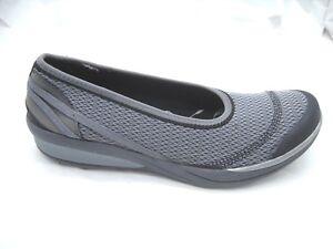 B-Zees-11M-Flawless-gray-black-sneakers-womens-ladies-ballet-flats-shoes