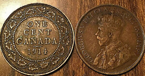 1914-CANADA-LARGE-1-CENT-COIN-PENNY-VG-F-BUY-1-OR-MORE-ITS-FREE-SHIPPING