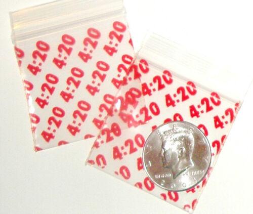 100 It/'s 4:20 Apple Baggies 2 x 2 in Apple reclosable ziplock bags 2020