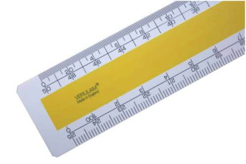 "6/"" No.204 imperial Architects scale ruler 1:500 1:2500 1//8/"" 1//4/"" 1//2/"" 1/""=1ft"