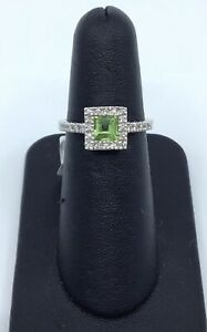 Gabriel-amp-Co-14K-White-Gold-Peridot-and-0-15-Ct-Diamond-Square-Halo-Ring