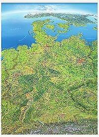 Panoramakarte Deutschland (2015, Poster)