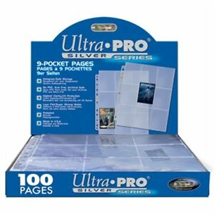 Box-100-Ultra-PRO-Silver-9-Pocket-Gaming-Trading-Card-Album-Pages-Binder-Sheets