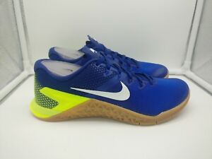 huge selection of 784b7 ca400 Image is loading Nike-Metcon-4-UK-6-Blue-Volt-White-