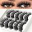 3D-Mink-Eyelashes-5-Pairs-Natural-False-Fake-Long-Thick-Handmade-Lashes-Makeup thumbnail 1