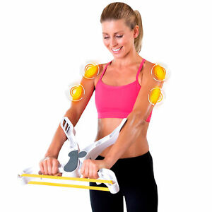 Total Workout System with 3 Resistance Bands Fitness Gym Arm Shoulder Back