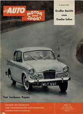 Auto Motor Sport 7 59 1959 Sunbeam Rapier Porsche 356 Coupé Gasturbine Fiat 2100