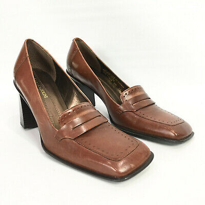 Enzo Angiolini Womens Size 8 N Heels Penny Loafer Leather ...