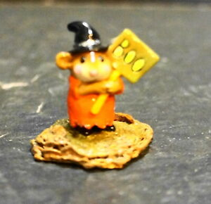 Wee-Forest-Folk-M-214-Little-Boo-Boo-Black-Hat-Orange-Dress-Halloween-1996