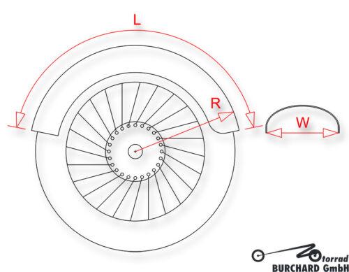 """Motorrad Fender Schutzblech Stahl 220 mm Motorrad /""""Bobber/"""" Style universal"""