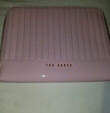 TED BAKER pink  Patent Lather Ipad Case Cover