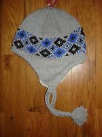 Arizona Jean Co. Gray Argyle Fleece Lined Winter Hat Mens One Size