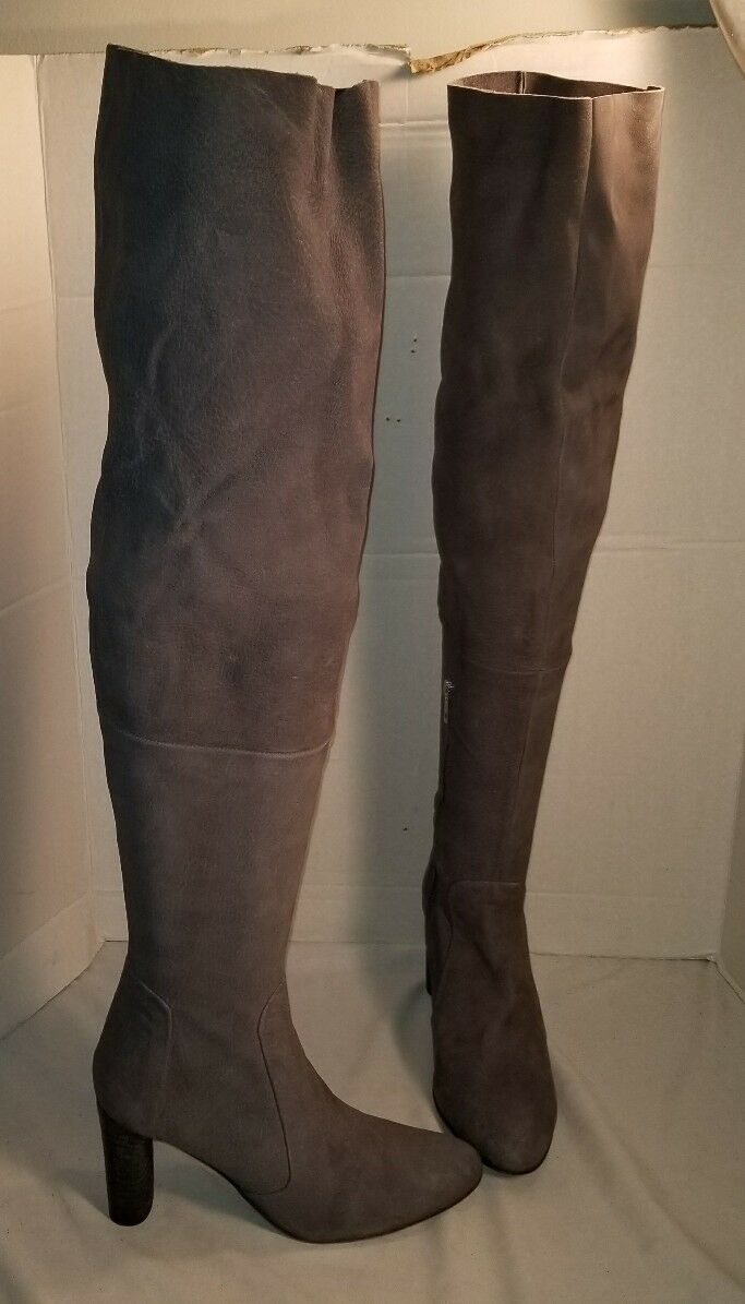 NEW FREE PEOPLE femmes LACHLAN gris OVER THE KNEE HIGH TALL bottes US 9 EUR 39