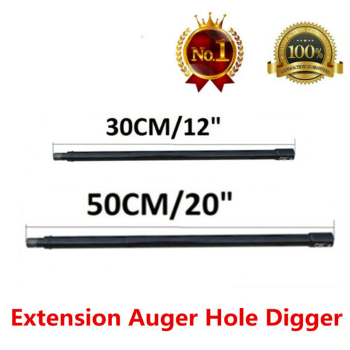 """Pro Extension Bit Auger 20/"""" 12/"""" Long 3//4/"""" Shaft Gas Post Hole Digger Earth"""