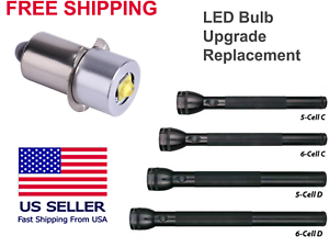 Maglite 5 or 6 Cell ULTRA C or D 5W LED Replacement Upgrade Flashlight Bulb NEW
