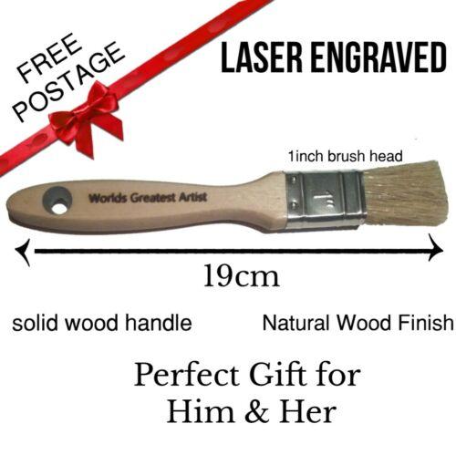 customised personalised laser engraved paint brush birthday present gift
