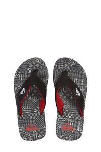 dd0943a96 Quiksilver Men s 7 Molokai Layback Black Sandals Flip Flops Thongs ...