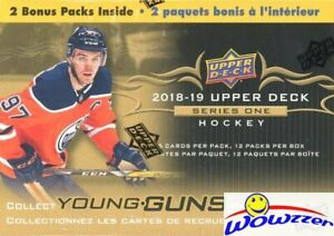 2018-19-Upper-Deck-Series-1-Hockey-HUGE-Sealed-12-Pack-Blaster-Box-2-YOUNG-GUNS
