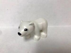 Lego Duplo Figure Vintage Polar Bear Cub