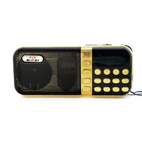 Portable FM Radio USB MicroSD TF MP3 Music Player Speaker