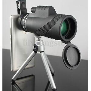 40X60-Zoom-Optical-Lens-Monocular-Telescope-Clip-Tripod-For-Mobile-Phone