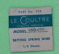 Jaeger Lecoultre Ladies Vintage Lecoultre 460-490 Setting Spring Wire Part 24a