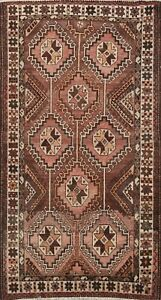 Antique Geometric Traditional Wool Area Rug Oriental Carpet 5x8 Hand-Knotted