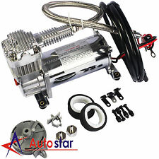 150 PSI Air Compressor 1 /4″ Hose Kit For Train Horns Bag Suspension 12V New