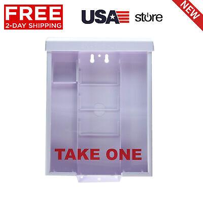 White Plastic Take One Brochure Holder Flyer Box Outdoor Realtor Style New