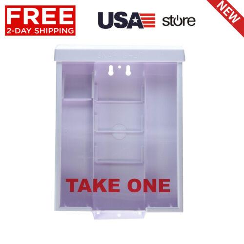 White Snap Shut Brochure Box Holder Flyer Box Brochure Outdoor Realtor Style