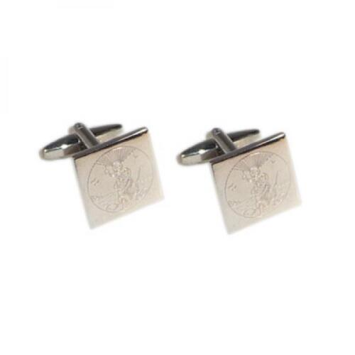 St Christopher Engraved Cufflinks /& Gift Pouch