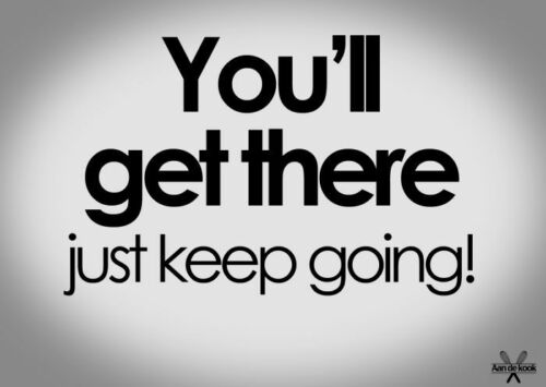 """Multiple Sizes /""""KEEP GOING.../"""" Motivational Inspirational Sayings Poster"""