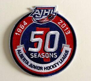 AJHL-Alberta-Junior-Hockey-League-50-Seasons-Anniversary-4-75-034-Embroidered-Patch
