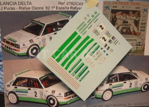 """DECAL CALCA 1//43 LANCIA DELTA /""""CAJA CANTABRIA/"""" J RALLY OSONA 1992 PURAS"""