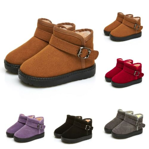 Winter Children Kids Baby Girls Candy Farbe Warm Short Boots Snow Bootie Shoes
