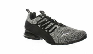 PUMA-Mens-Axelion-Wide-Black-White-Cross-Training-Shoes-Size-9-5-Wide