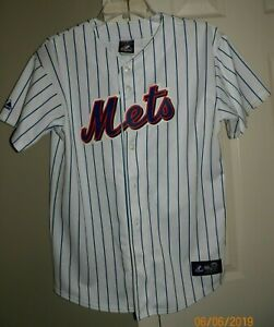 watch 56656 1a5e4 Details about Majestic MLB New York Mets Johan Santana #57 Stitched  Baseball Jersey Size Large